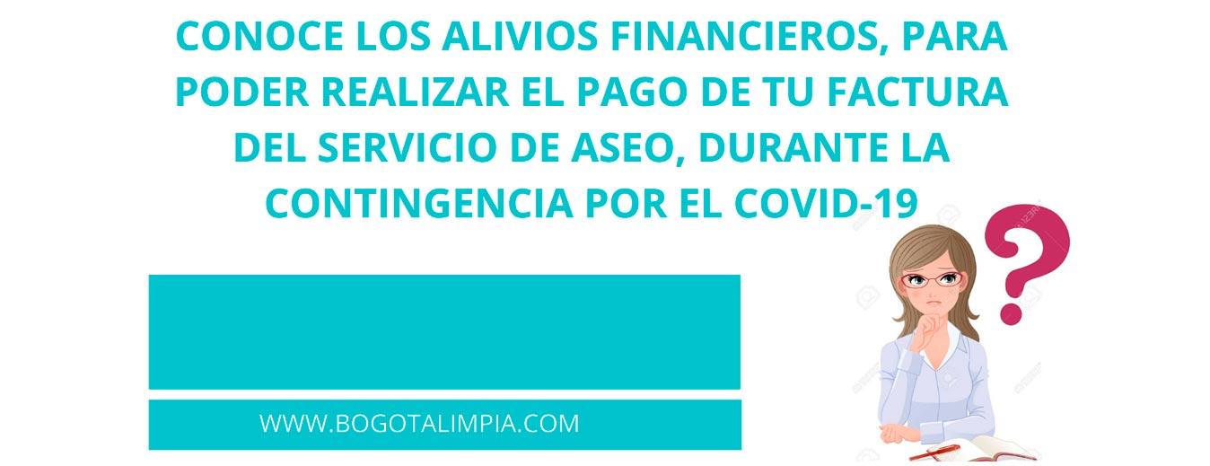 Alivios financieros Bogotá Limpia